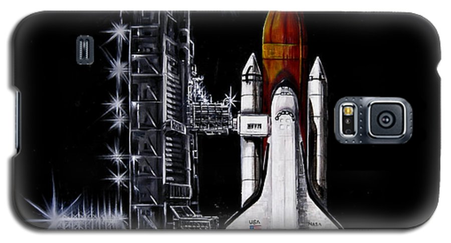 Shuttle Galaxy S5 Case featuring the painting The Night Before by Murphy Elliott