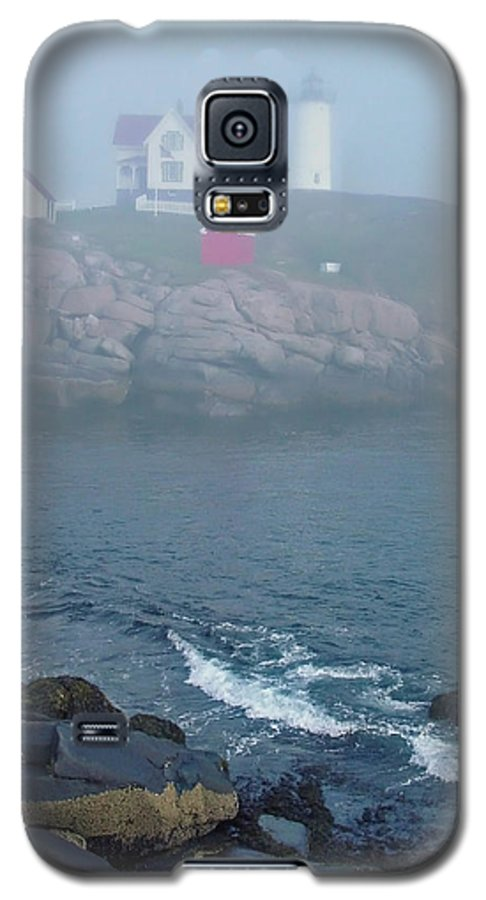 Nubble Lighthouse Galaxy S5 Case featuring the photograph The Nubble Lighthouse At York Maine by Suzanne Gaff