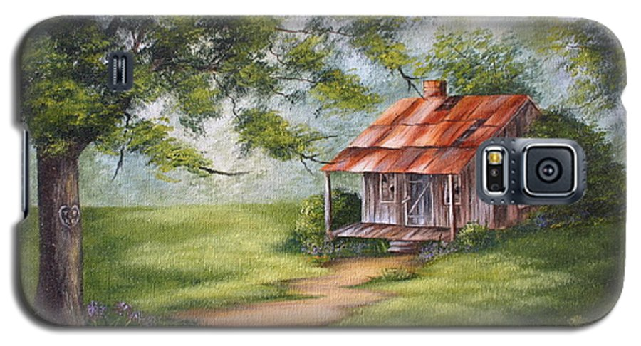 Oil Galaxy S5 Case featuring the painting The Old Homestead by Ruth Bares