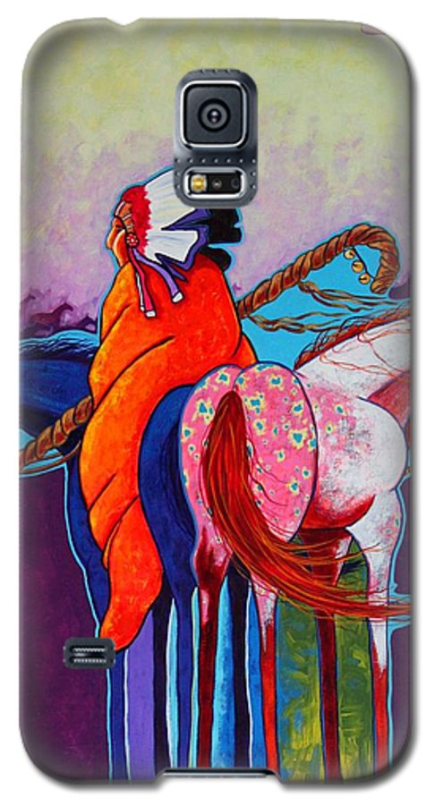 Native American Galaxy S5 Case featuring the painting The Peacemakers Gift by Joe Triano