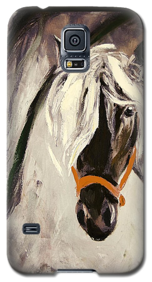 Horses Galaxy S5 Case featuring the painting The Performer by Gina De Gorna