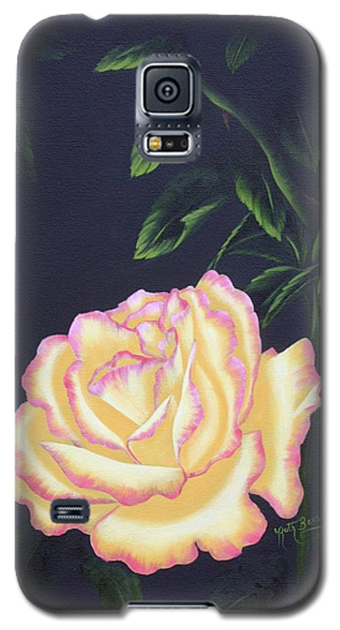 Rose Galaxy S5 Case featuring the painting The Rose by Ruth Bares