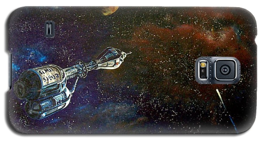 Vista Horizon Galaxy S5 Case featuring the painting The Search For Earth by Murphy Elliott
