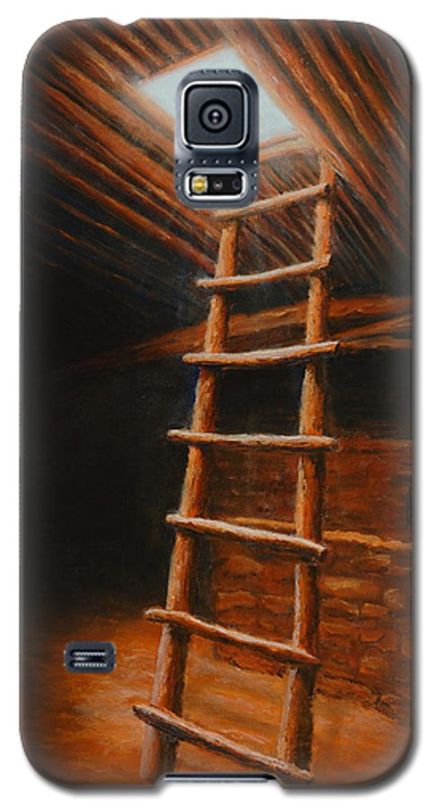 Kiva Galaxy S5 Case featuring the painting The Second World by Jerry McElroy