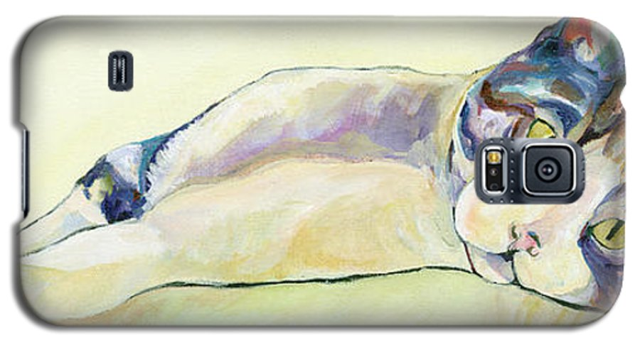 Pat Saunders-white Canvas Prints Galaxy S5 Case featuring the painting The Sunbather by Pat Saunders-White