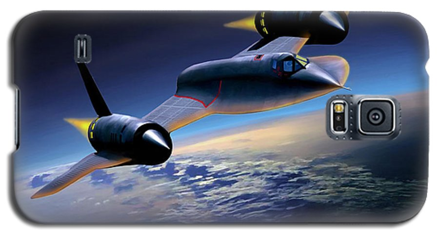 Airplane Galaxy S5 Case featuring the painting The Untouchable Sr-71 Blackbird by Mark Karvon