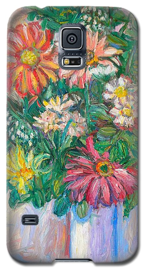 Still Life Galaxy S5 Case featuring the painting The White Vase by Kendall Kessler