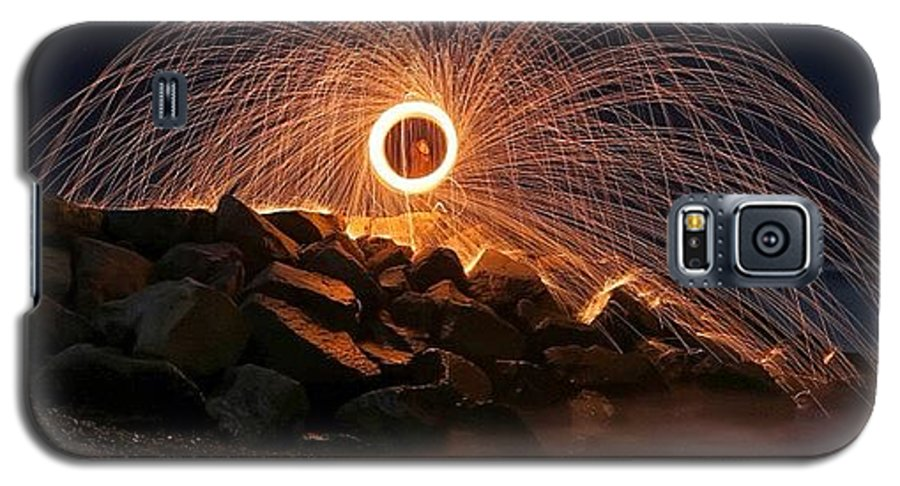 Galaxy S5 Case featuring the photograph This Is A Shot Of Me Spinning Burning by Larry Marshall