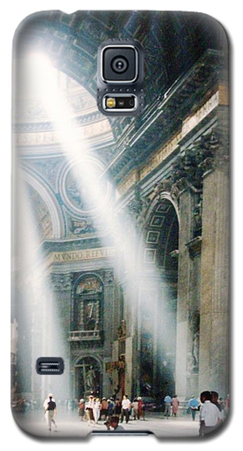 Cathedral Galaxy S5 Case featuring the painting This Needs No Further Title by Bruce Combs - REACH BEYOND