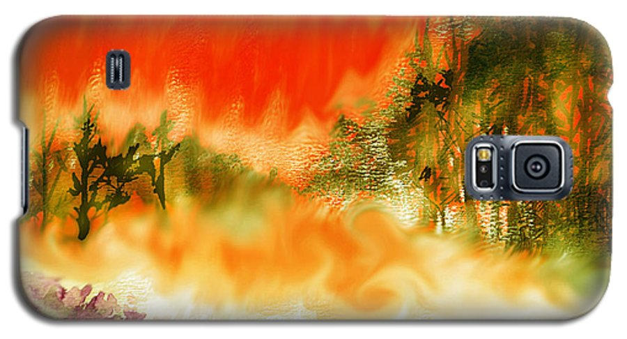 Timber Blaze Galaxy S5 Case featuring the mixed media Timber Blaze by Seth Weaver