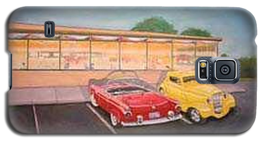 Rick Huotari Galaxy S5 Case featuring the painting Times Past Diner by Rick Huotari