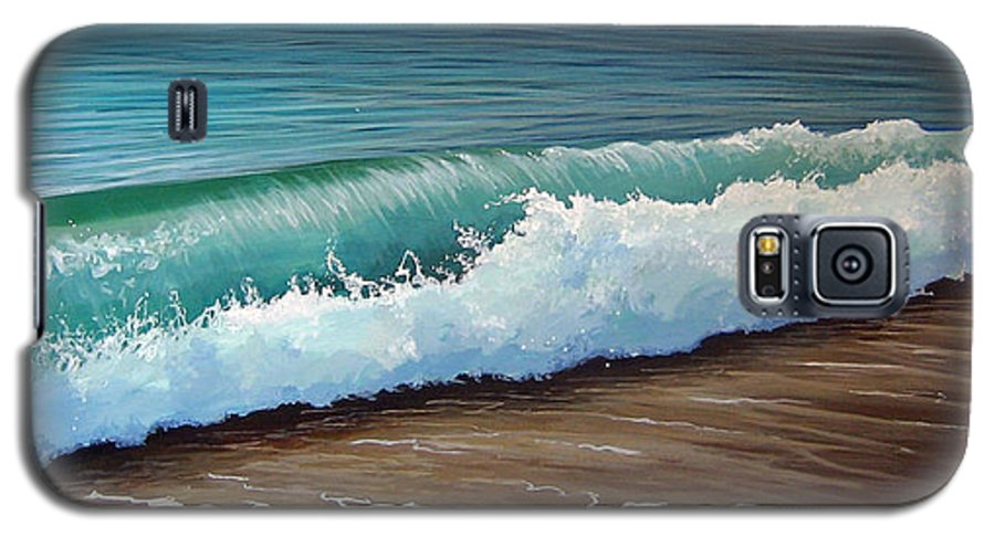 Wave On A Florida Beach Galaxy S5 Case featuring the painting To The Shore by Hunter Jay