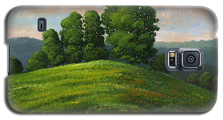 Landscape Galaxy S5 Case featuring the painting Toboggan Hill by Frank Wilson