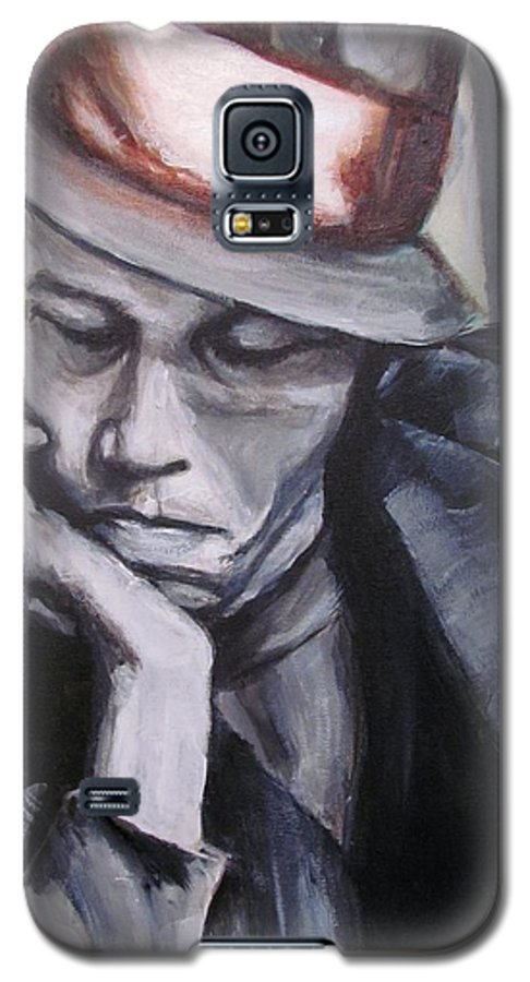 Celebrity Portraits Galaxy S5 Case featuring the painting Tom Waits One by Eric Dee