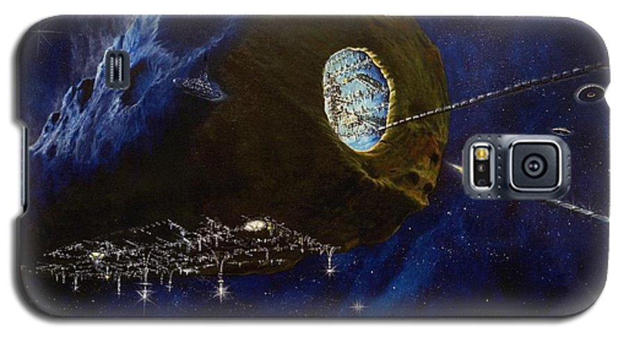 Oil Galaxy S5 Case featuring the painting Tomorrow by Murphy Elliott