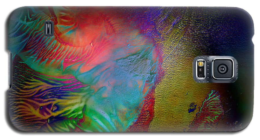 Surrealism Galaxy S5 Case featuring the digital art Topology Of Decalcomania by Otto Rapp