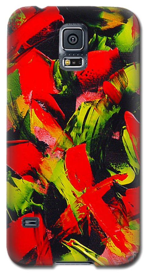 Abstract Galaxy S5 Case featuring the painting Transitions IIi by Dean Triolo