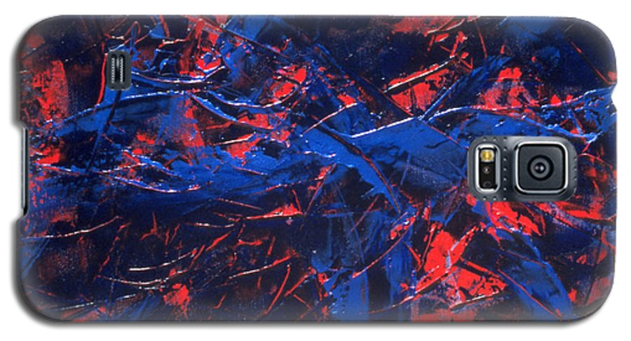 Abstract Galaxy S5 Case featuring the painting Transitions Iv by Dean Triolo