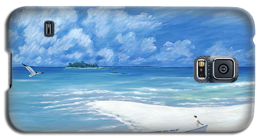 Seascape Galaxy S5 Case featuring the painting Treasure Cay by Danielle Perry