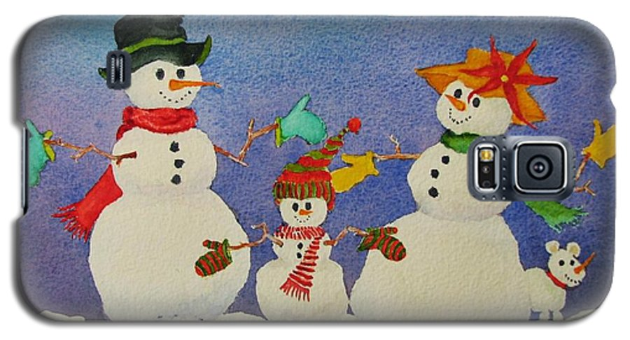 Winter Galaxy S5 Case featuring the painting Tres Chic by Mary Ellen Mueller Legault