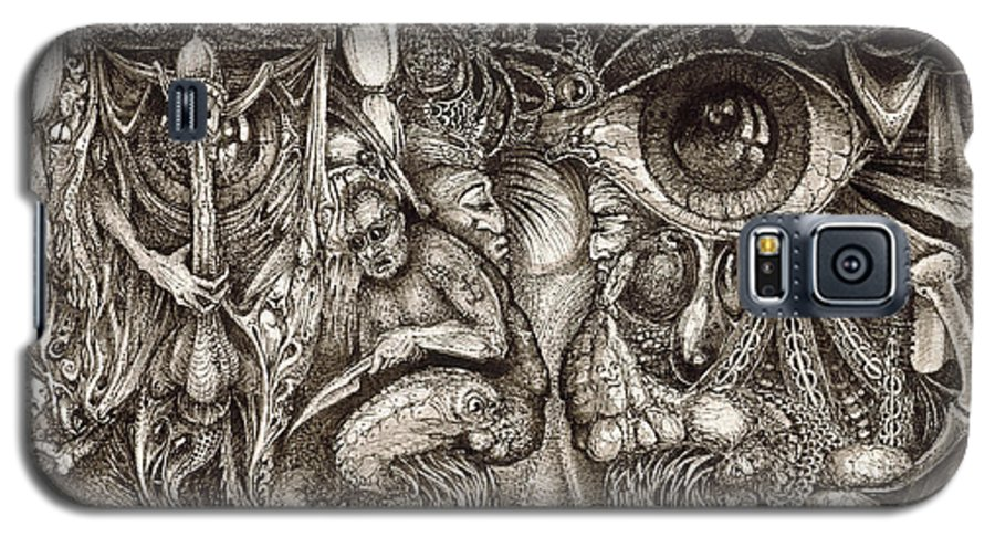 Surreal Galaxy S5 Case featuring the drawing Tripping Through Bogomils Mind by Otto Rapp