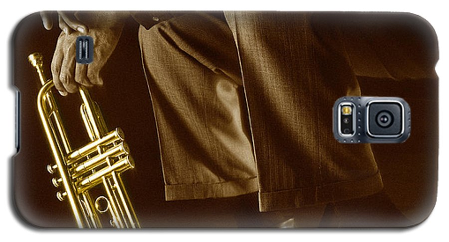 Trumpet Galaxy S5 Case featuring the photograph Trumpet 2 by Tony Cordoza