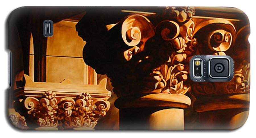 Corinthian Columns Galaxy S5 Case featuring the painting Turn Of The Century by Keith Gantos