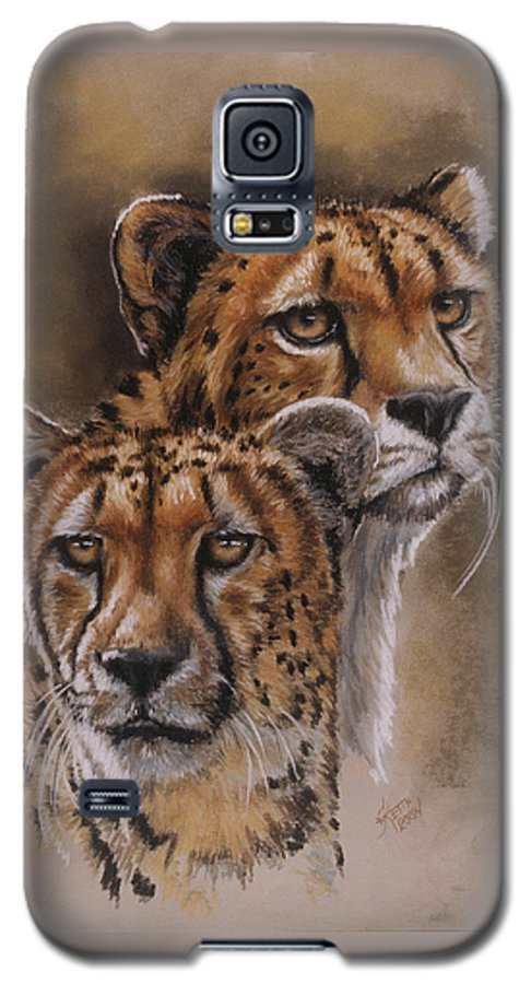 Cheetah Galaxy S5 Case featuring the pastel Twins by Barbara Keith