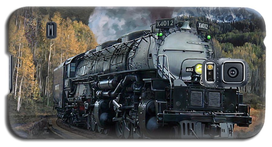 Railroad Galaxy S5 Case featuring the painting Union Pacific 4-8-8-4 Big Boy by Mark Karvon