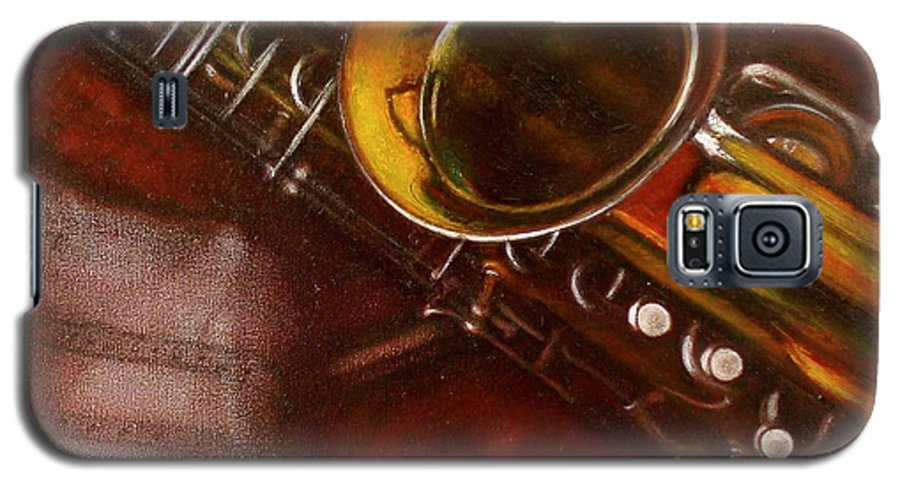 Still Life Galaxy S5 Case featuring the painting Unprotected Sax by Sean Connolly