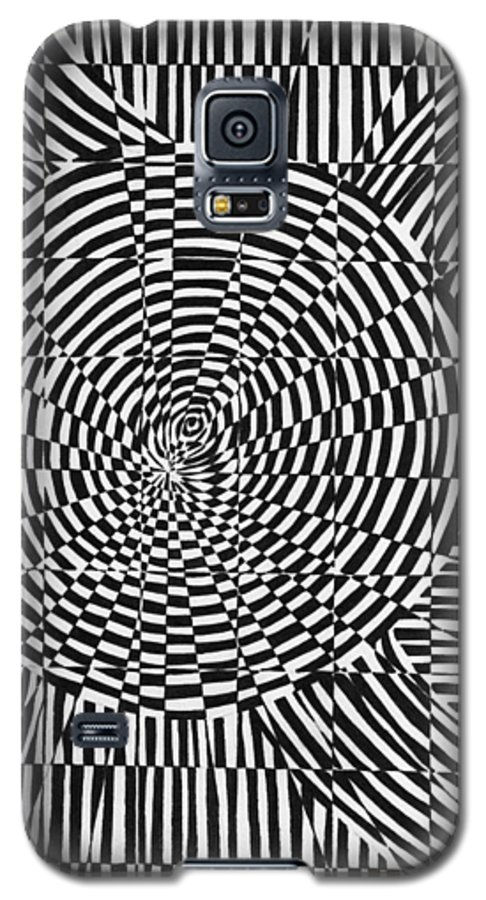 Abstract Galaxy S5 Case featuring the drawing Unraveled by Crystal Hubbard
