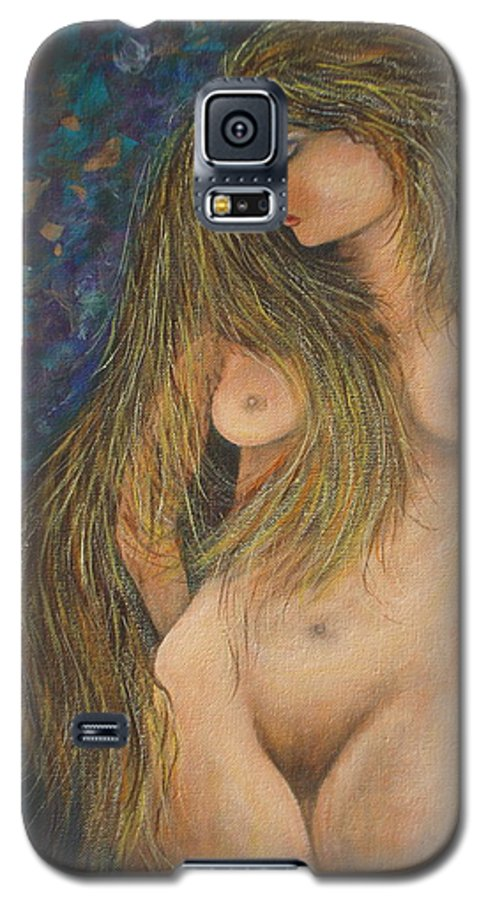 Woman Galaxy S5 Case featuring the painting Valencina by Natalie Holland