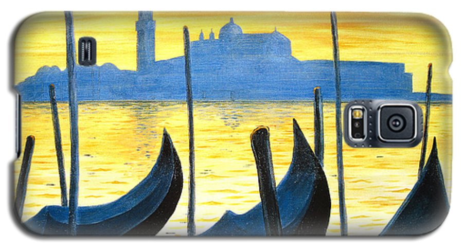 Venice Galaxy S5 Case featuring the painting Venezia Venice Italy by Jerome Stumphauzer