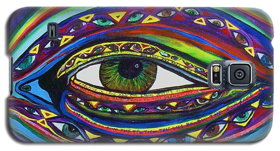Vision Galaxy S5 Case featuring the painting Vision by J Andrel