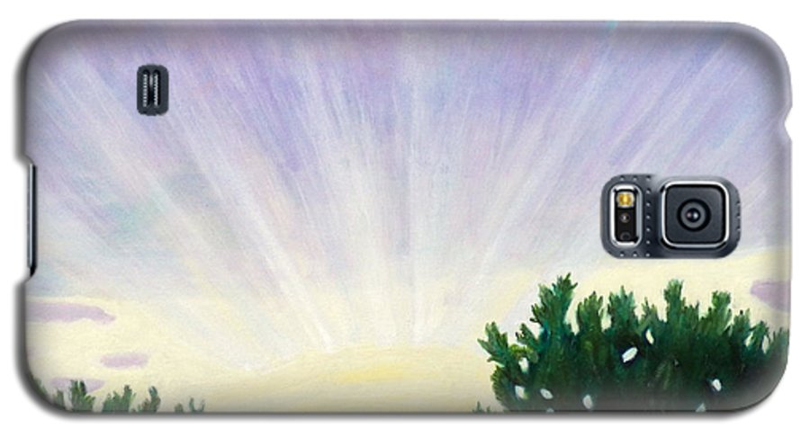 Skyscape Galaxy S5 Case featuring the painting Visionary Sky by Brian Commerford