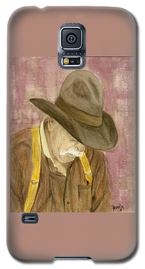 Western Galaxy S5 Case featuring the painting Walter by Regan J Smith