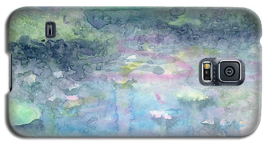 Blue Galaxy S5 Case featuring the painting Water Landscape by Christina Rahm Galanis