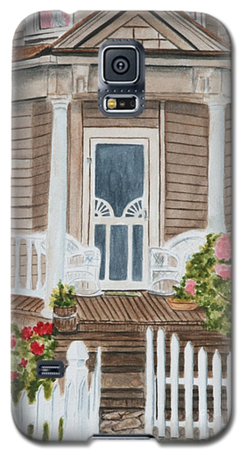 Architecture Galaxy S5 Case featuring the painting Welcome by Regan J Smith
