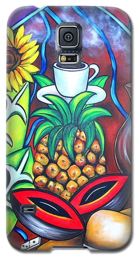 Cuban Paintings Galaxy S5 Case featuring the painting Welcome To Here And Now by Annie Maxwell
