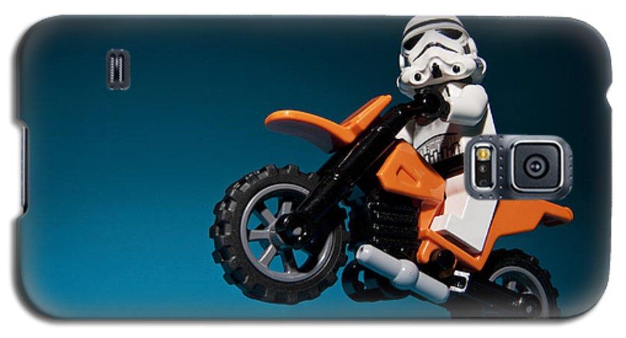 Lego Galaxy S5 Case featuring the photograph Wheelie by Samuel Whitton