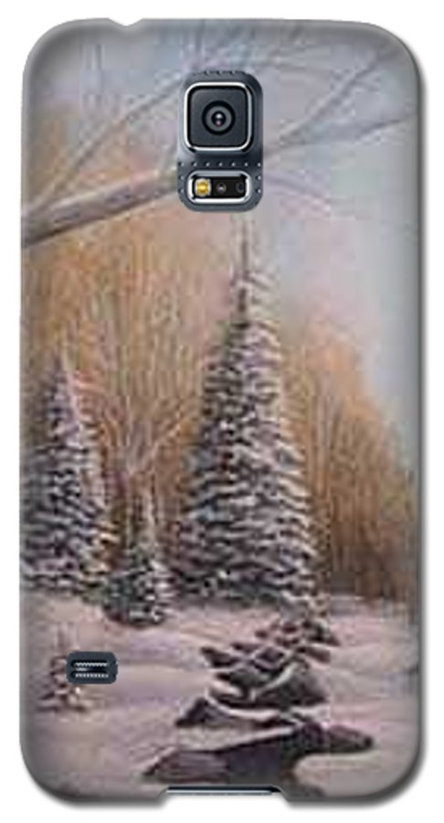 Rick Huotari Galaxy S5 Case featuring the painting Winter Morning by Rick Huotari