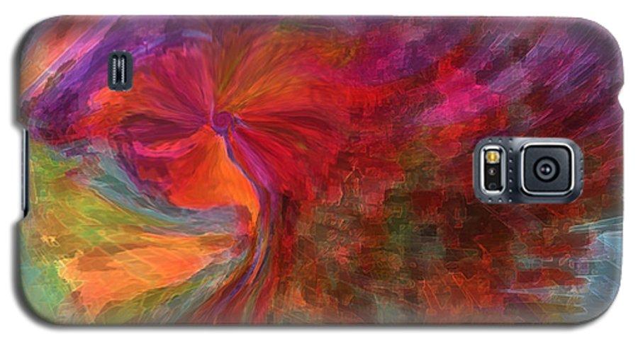 Woman Art Galaxy S5 Case featuring the digital art Women by Linda Sannuti