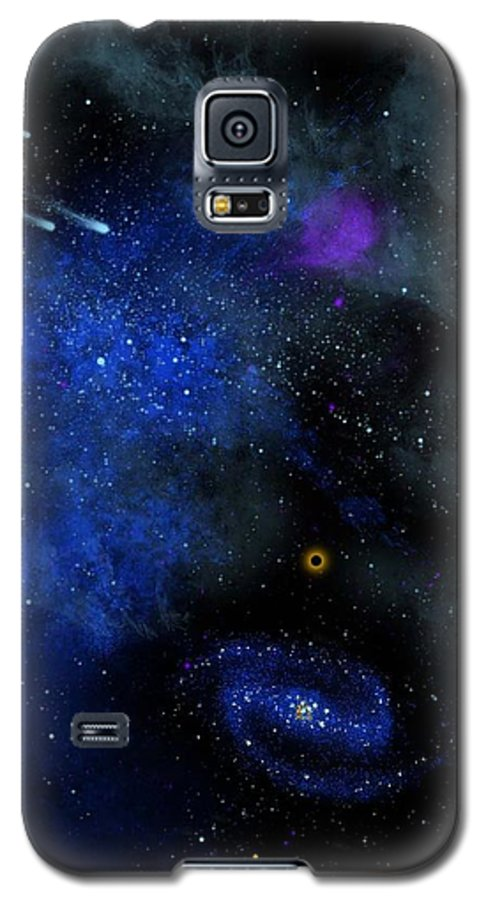 Wonders Of The Universe Mural Galaxy S5 Case featuring the painting Wonders Of The Universe Mural by Frank Wilson