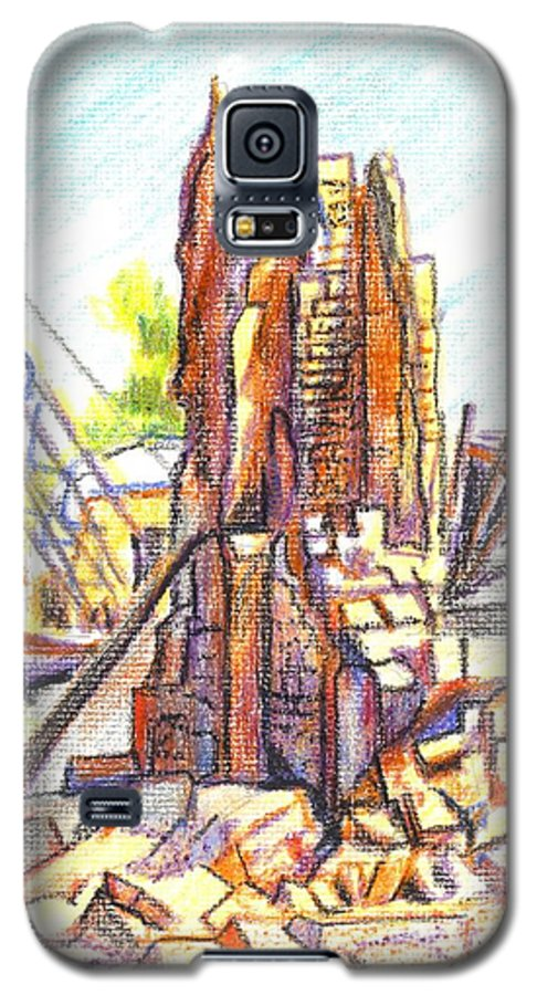 Wrecking Ball Galaxy S5 Case featuring the painting Wrecking Ball by Kip DeVore