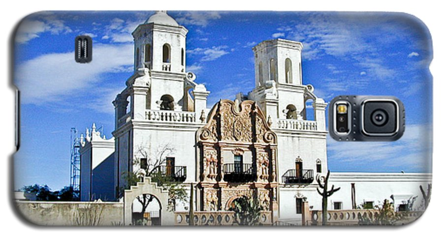 Mission San Xavier Del Bac Galaxy S5 Case featuring the photograph Xavier Tucson Arizona by Douglas Barnett