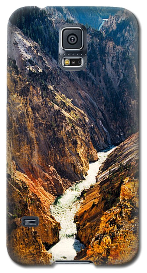 Yellowstone Galaxy S5 Case featuring the photograph Yellowstone River by Kathy McClure