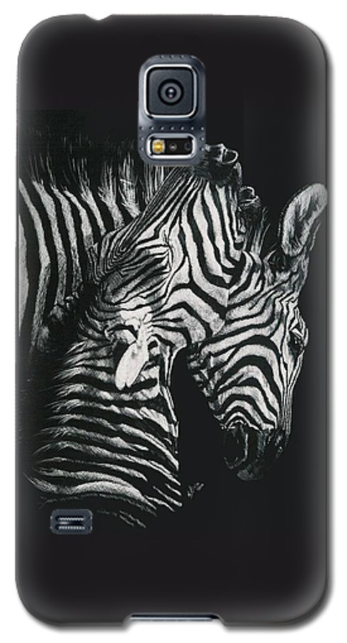 Art Galaxy S5 Case featuring the drawing Youngbloods by Barbara Keith