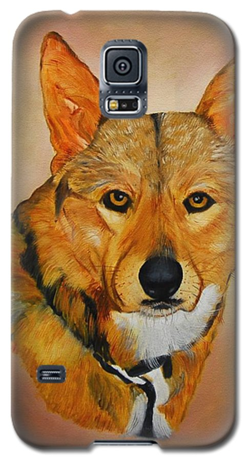 Animals Galaxy S5 Case featuring the painting Zavious by Quwatha Valentine