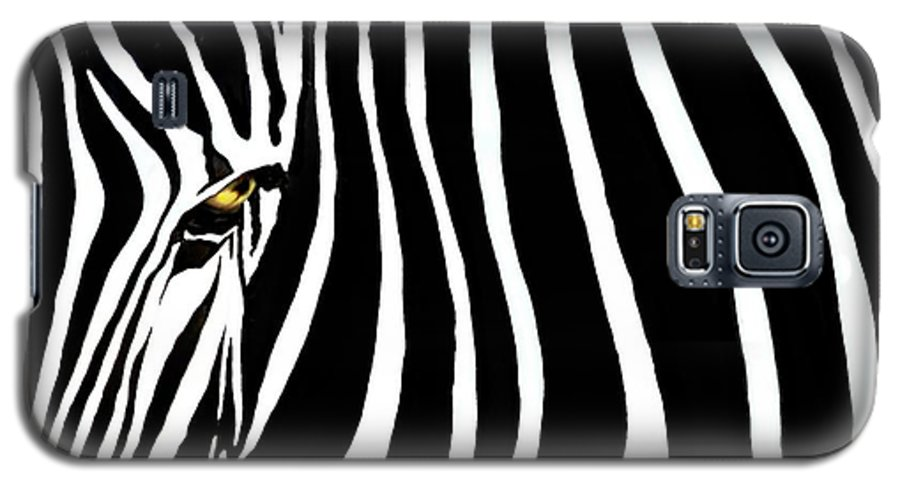 Zebra Galaxy S5 Case featuring the photograph Zebressence by Dan Holm