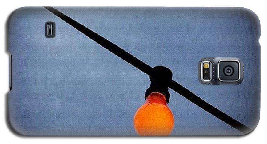 Orange Galaxy S5 Case featuring the photograph Orange Light Bulb by Matthias Hauser
